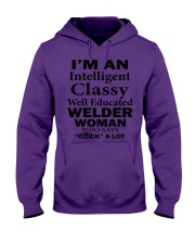 CLASSY WELDER WOMAN Hooded Sweatshirt tile