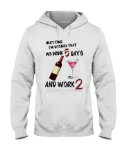 Drink Voting- Funny Bartender Hooded Sweatshirt thumbnail