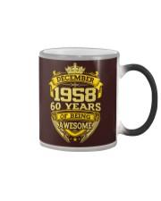 HAPPY BIRTHDAY DECEMBER 1958 Color Changing Mug thumbnail