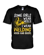 WEAR WELDING HOOD AND BOOTS V-Neck T-Shirt thumbnail