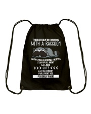 RACCOONS ARE CUTE Drawstring Bag thumbnail