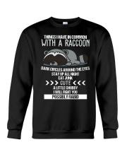 RACCOONS ARE CUTE Crewneck Sweatshirt thumbnail
