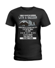 RACCOONS ARE CUTE Ladies T-Shirt thumbnail