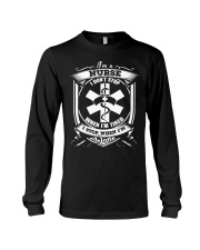 DON'T STOP WHEN NURSE IS TIRED  Long Sleeve Tee thumbnail