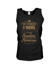 OCTOBER 1985 OF BEING SUNSHINE AND HURRICANE Unisex Tank thumbnail