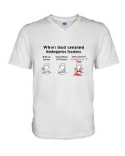 KINDERGARTEN TEACHERS V-Neck T-Shirt thumbnail