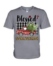 BLESSED GRANDMA V-Neck T-Shirt thumbnail