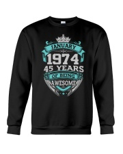 HAPPY BIRTHDAY JAN 1974 Crewneck Sweatshirt tile