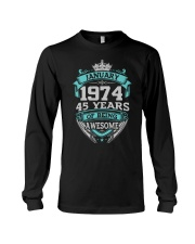 HAPPY BIRTHDAY JAN 1974 Long Sleeve Tee thumbnail