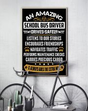 AN AMAZING SCHOOL BUS DRIVER 16x24 Poster lifestyle-poster-7