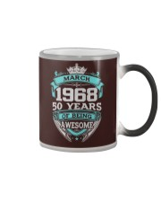 HAPPY BIRTHDAY MARCH 1968 - 2019 Color Changing Mug tile