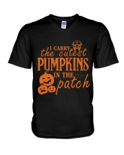 THE CUTEST PUMPKINS V-Neck T-Shirt thumbnail
