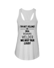 DON'T YELLING JUST TALK LOUD Ladies Flowy Tank thumbnail