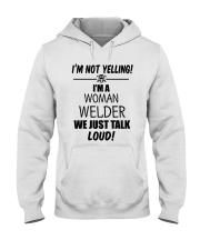 DON'T YELLING JUST TALK LOUD Hooded Sweatshirt thumbnail