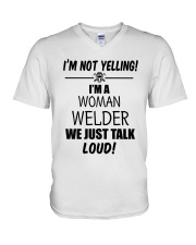 DON'T YELLING JUST TALK LOUD V-Neck T-Shirt thumbnail