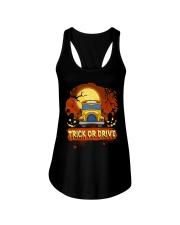 TRICK OR DRIVE BUS Ladies Flowy Tank thumbnail