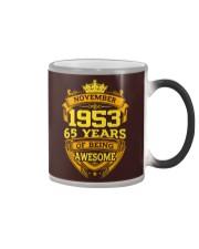 HAPPY BIRTHDAY NOVEMBER 1953 Color Changing Mug thumbnail