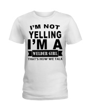 IM NOT YELLING  Ladies T-Shirt thumbnail