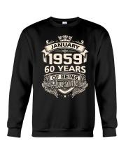 HAPPY BIRTHDAY JANUARY 1959 Crewneck Sweatshirt thumbnail
