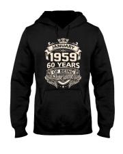 HAPPY BIRTHDAY JANUARY 1959 Hooded Sweatshirt thumbnail