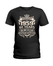 HAPPY BIRTHDAY JANUARY 1959 Ladies T-Shirt thumbnail