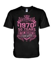 BIRTHDAY GIFT FEB 1970 V-Neck T-Shirt thumbnail