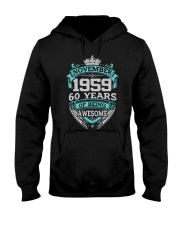 Birthday Gift November 1959 Hooded Sweatshirt thumbnail