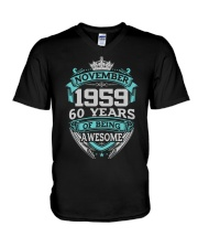 Birthday Gift November 1959 V-Neck T-Shirt thumbnail