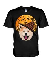 AKITA IN HALLOWEEN V-Neck T-Shirt thumbnail
