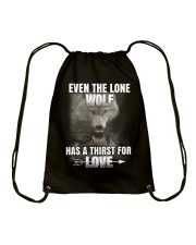 THE LONE WOLF Drawstring Bag thumbnail