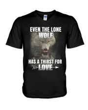 THE LONE WOLF V-Neck T-Shirt thumbnail