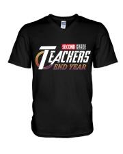 END YEAR 2ND GRADE V-Neck T-Shirt thumbnail