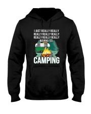 REALLY WANNA GO CAMPING Hooded Sweatshirt thumbnail