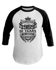 HAPPY BIRTHDAY SEPTEMBER 1969 Baseball Tee thumbnail