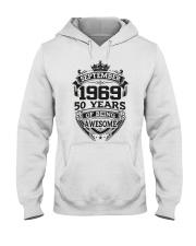 HAPPY BIRTHDAY SEPTEMBER 1969 Hooded Sweatshirt thumbnail