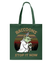 STOP IT NOW RACCOONS Tote Bag thumbnail