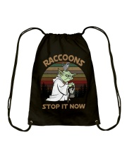 STOP IT NOW RACCOONS Drawstring Bag thumbnail