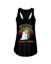 STOP IT NOW RACCOONS Ladies Flowy Tank thumbnail