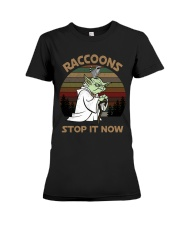 STOP IT NOW RACCOONS Premium Fit Ladies Tee thumbnail