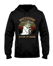 STOP IT NOW RACCOONS Hooded Sweatshirt thumbnail