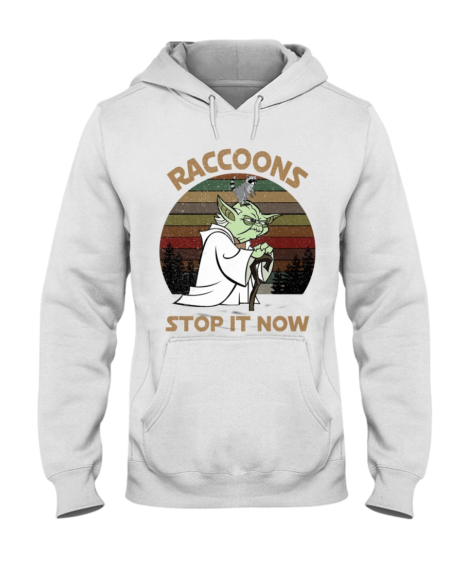 STOP IT NOW RACCOONS Hooded Sweatshirt