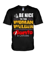 BE NICE TO WELDER V-Neck T-Shirt thumbnail