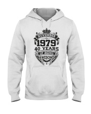 HAPPY BIRTHDAY NOVEMBER 1979 Hooded Sweatshirt tile
