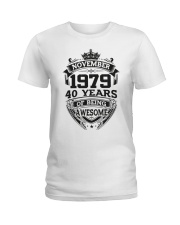 HAPPY BIRTHDAY NOVEMBER 1979 Ladies T-Shirt tile