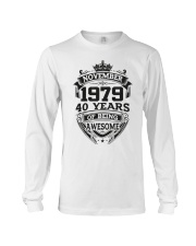 HAPPY BIRTHDAY NOVEMBER 1979 Long Sleeve Tee tile