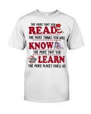 READ MORE AND MORE Classic T-Shirt front