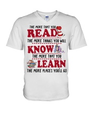 READ MORE AND MORE V-Neck T-Shirt thumbnail