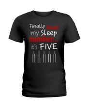 MY SLEEP NUMBER 5 BOTTLES Ladies T-Shirt thumbnail