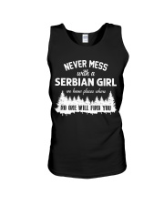 NEVER MESS WITH SERBIAN GIRL Unisex Tank thumbnail