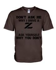 DON'T ASK ME WHY I DRIVE A 300ZX V-Neck T-Shirt thumbnail